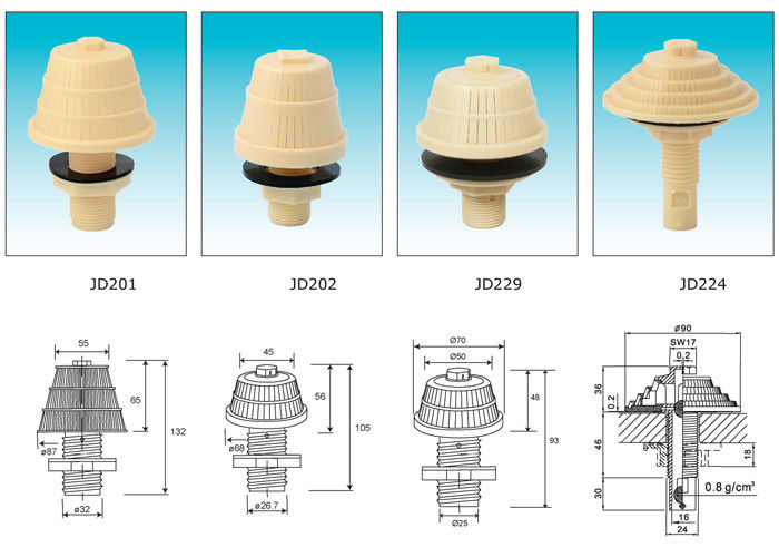 PP inject molded Water Nozzles for mechanical water filter FRP Pressure Tanks