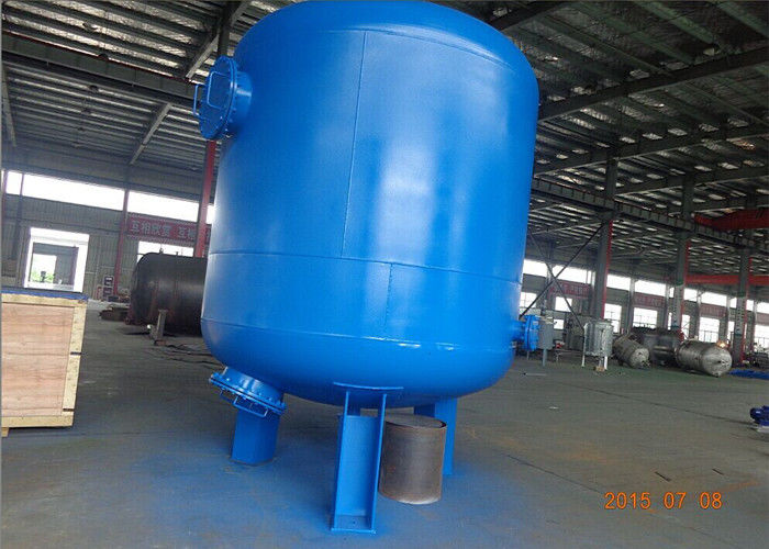36TPH 8-10 M / H Carbon Steel Pressurized Water Tank Water Filter With Rubber Liner