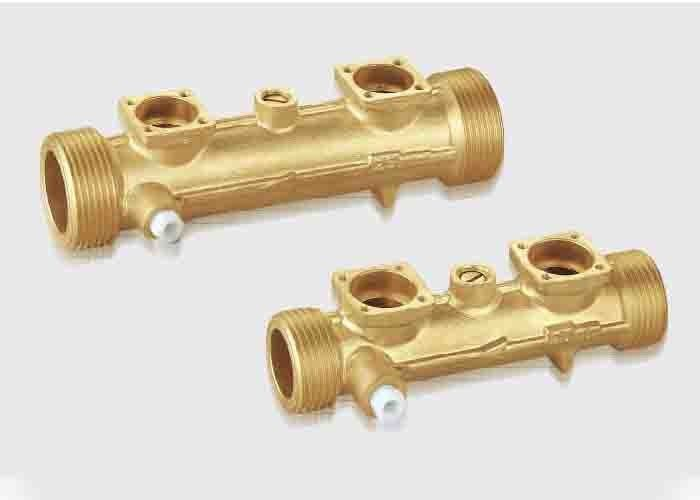 Brass Sensor Body For Ultrasonic Flow Meters DN15-DN40 Convection Type