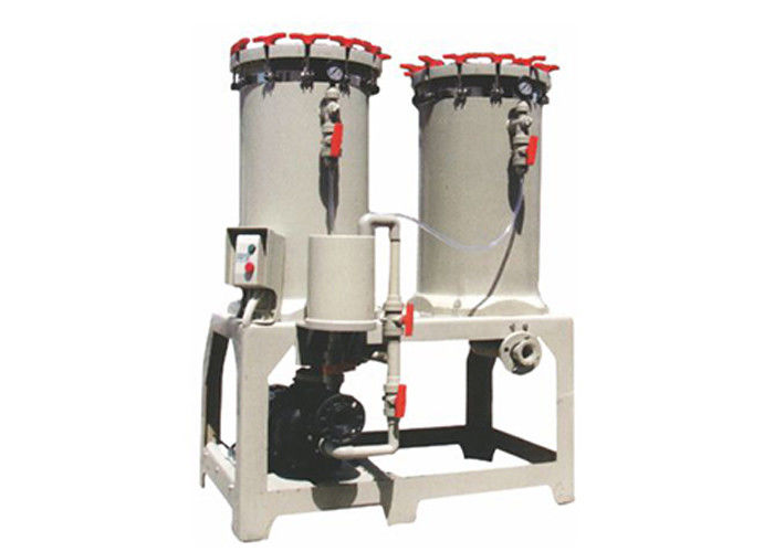 5HP Twin serial filter tank Chemical Filtration Systems for dyeing industry 750L / min